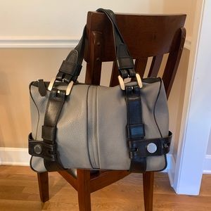 Michael Kors Grey/Black purse (EUC)